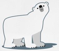 A Good Base For A Teddy Bear Well More Bear Than Teddy Polar Bear Illustration Polar Bear Polar Bear Cartoon