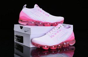 48bb4e83b3 Nike Air Vapormax Flyknit 2019 White Pink AJ6900-005 Women's Running Shoes
