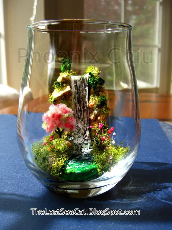 Kgk Gardening Landscape: Tree Of Life Miniature Landscape Waterfall Terrarium