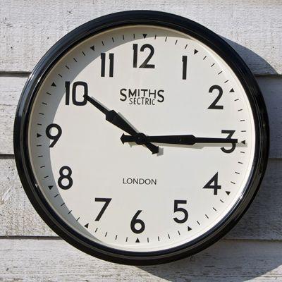 Extra Large Round Black Smiths Station Clock #smiths #clock #homebarnshop