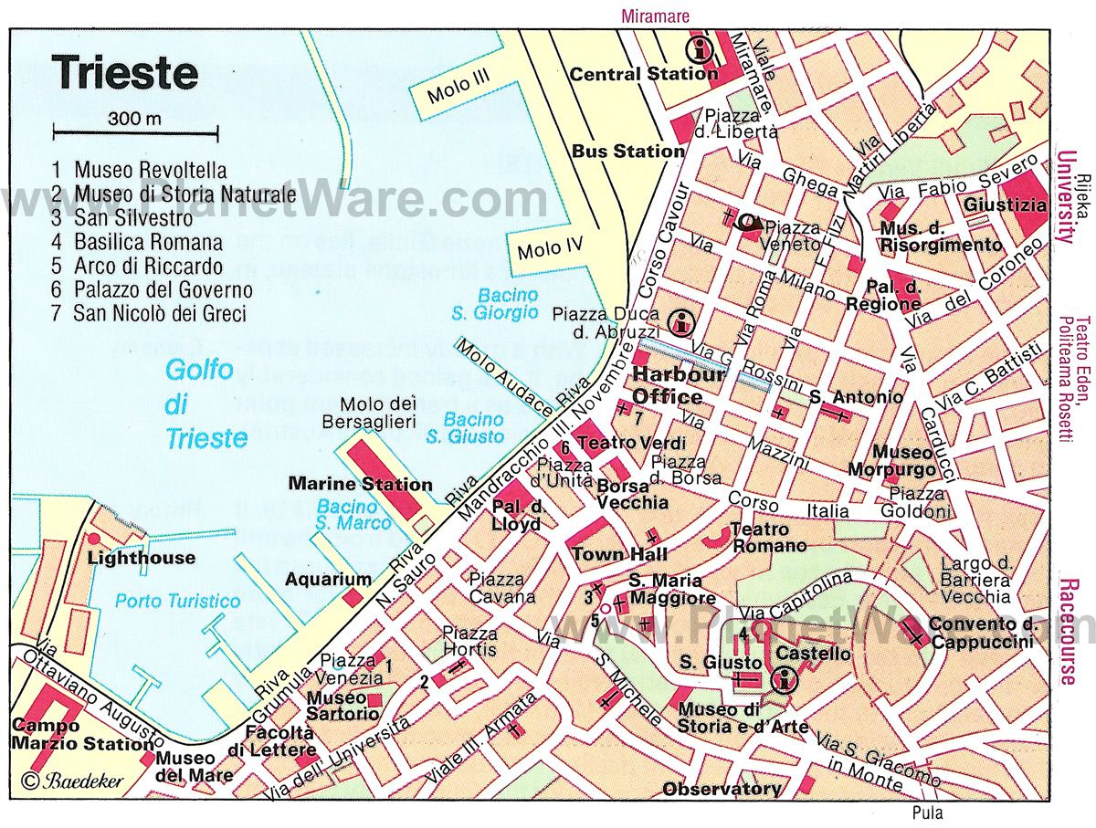 Trieste Map  Tourist Attractions  Epic South Europe Roadtrip