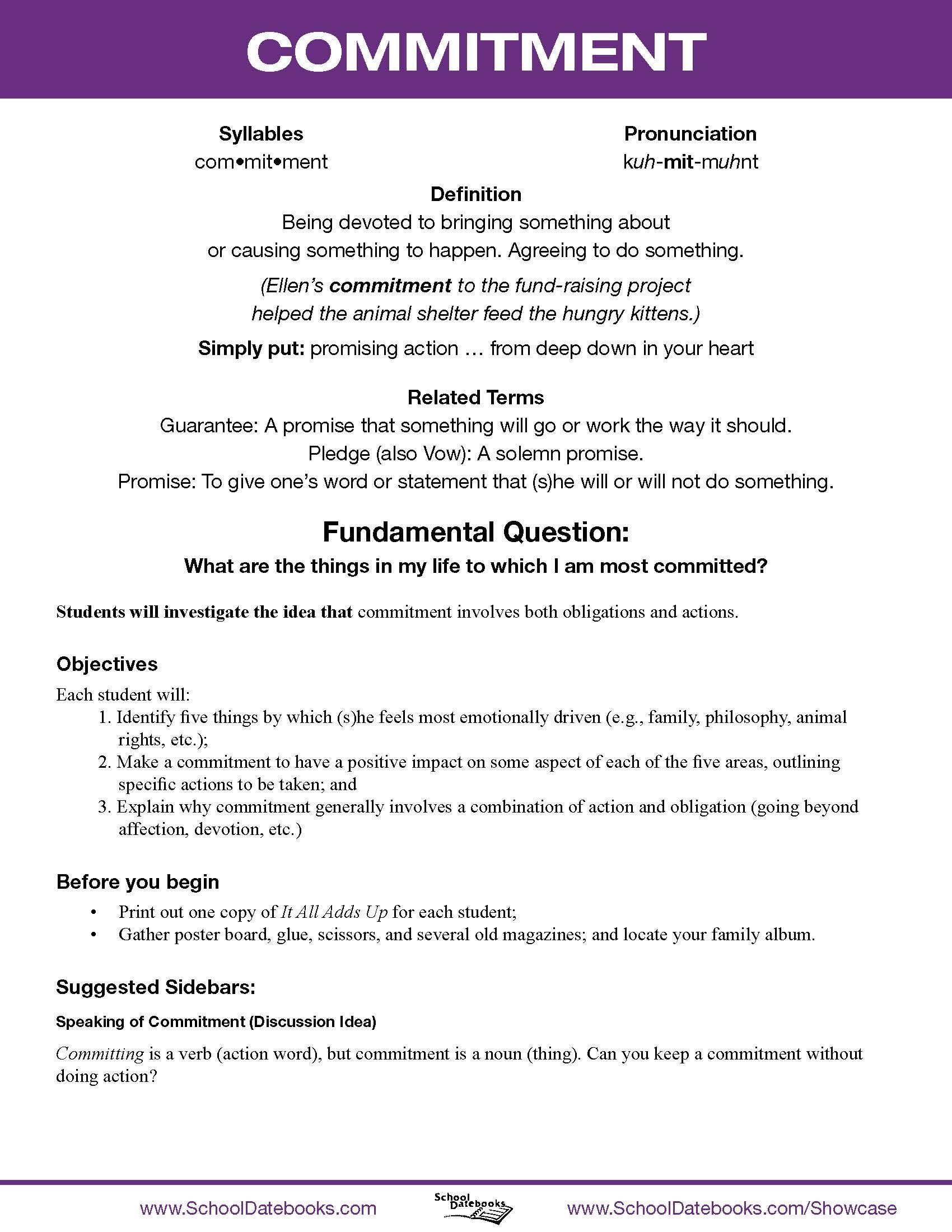 Civic Education Character Worksheet
