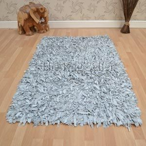 Leather Shaggy Rugs In Brown Buy Online From The Rug Seller Uk Leather Rugs Leather Shaggy Leather Rug Rugs Front Room
