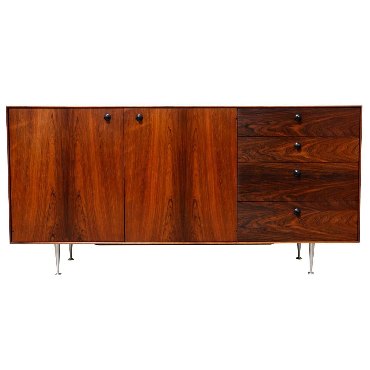 Rosewood Thin Edge Credenza By George Nelson For Herman Miller  # Muebles George Nelson