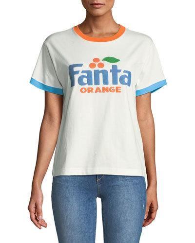 bd74532c Marc Jacobs Fanta& Orange Short-Sleeve Crewneck Cotton T-Shirt ...