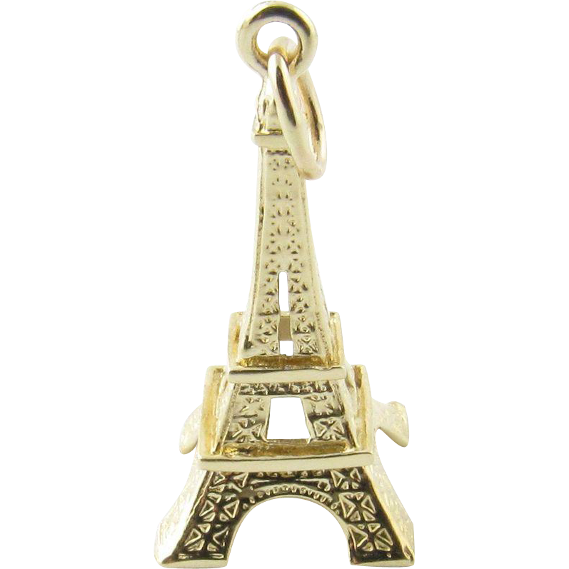 """I/"""" Crystal Dome Button Eiffel Tower /& Music  FREE US SHIPPING"""