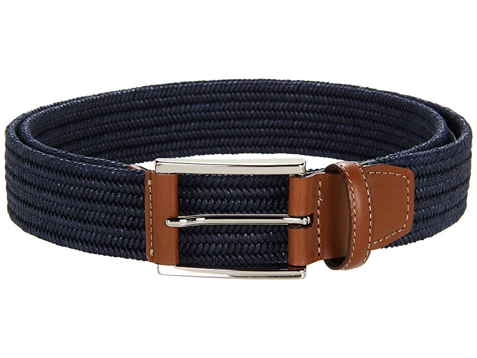 Torino Leather Co Cotton Stretch Navy Mens Belts Perfect for all of your lowkey days this season this wellcrafted Torino Leather Company belt will spruce up your ensemble...