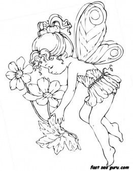 Printable Beautiful Cute Fairy Coloring Pages Printable Coloring Pages For Kids Fairy Coloring Fairy Coloring Pages Coloring Pages