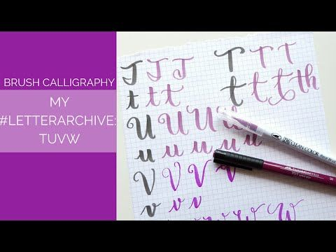 Take a peek at my brush calligraphy alphabet variations and