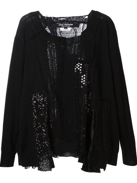 Shop Junya Watanabe Comme Des Garçons contrasting panels embroidered sweater in Smets from the world's best independent boutiques at farfetch.com. Over 1000 designers from 60 boutiques in one website.