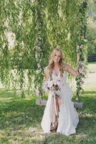 Elegant Lavender and Lace Farm Wedding - Style Me Pretty