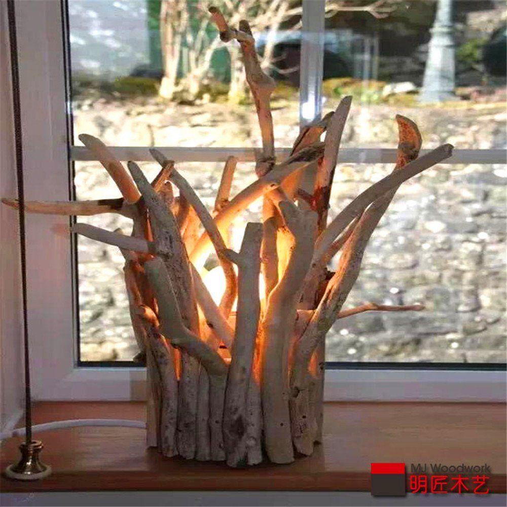 Xue Kunstlerische Gebaude Schreibtisch Lampe Piloten Fenster Original Licht Kunst Handgefertigte Holz Licht Ver Dekoration Treibholz Projekte Beleuchtungsideen