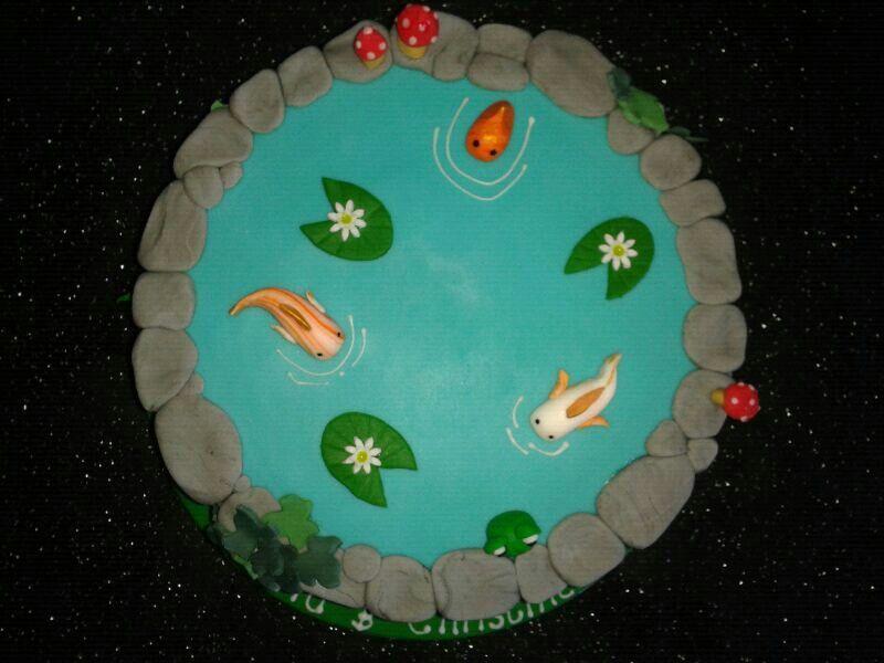 Fish pond cake made by Emma