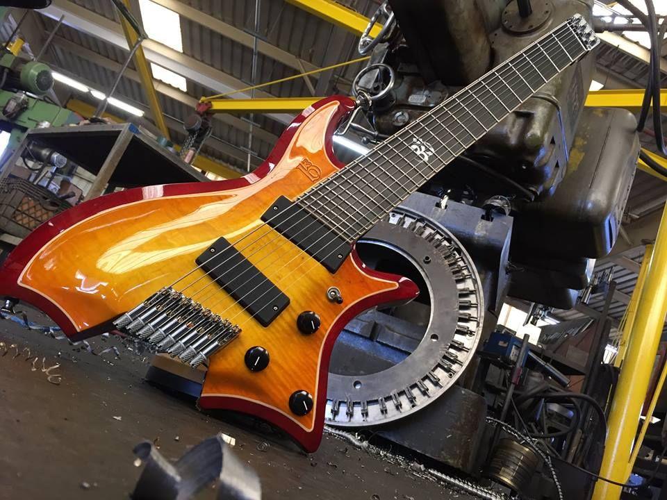 8 string fan fretted headless guitar by gene baker metal in 2019 guitarras instrumentos. Black Bedroom Furniture Sets. Home Design Ideas