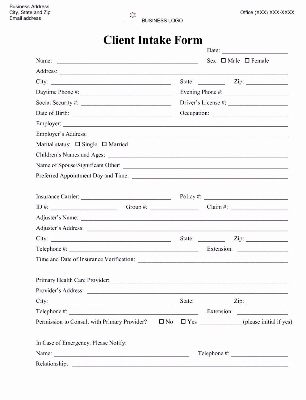 Counseling Intake Form Template Elegant 6 Counselling Referral Form Template Uyefi Treatment Plan Template Certificate Of Completion Template Counseling Forms