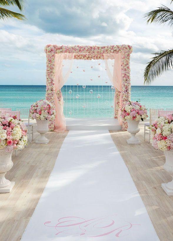 Beach Chic Wedding Aisle