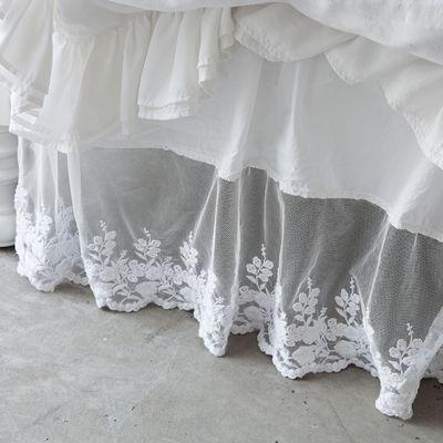 Rachel Ashwell Shabby Chic Couture Liliput Lace Bedskirt Shabby