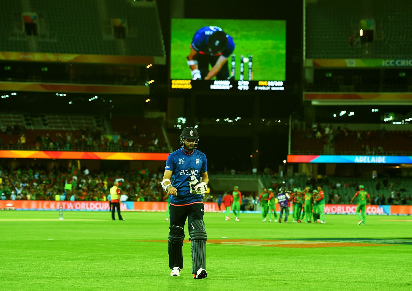 James Anderson leaves the field, England v Bangladesh