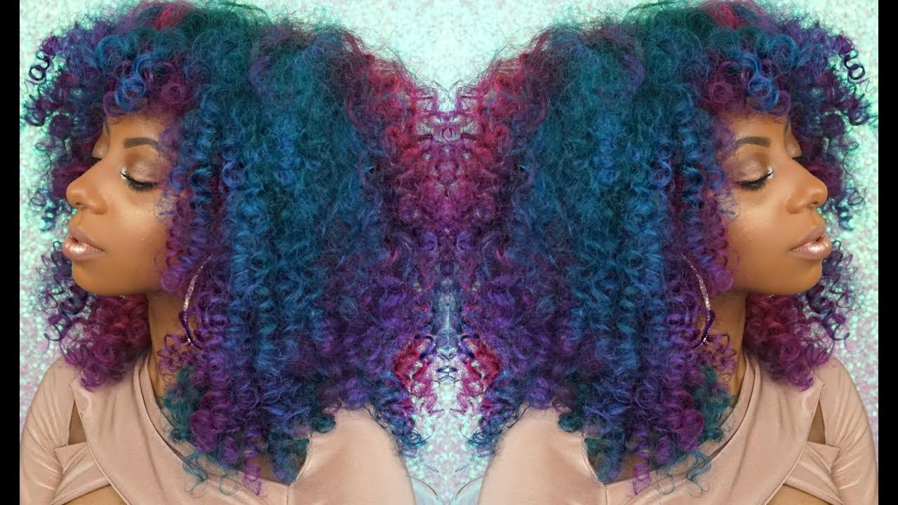 Unicorn curls kinky curly rainbow hair with true and pure textures