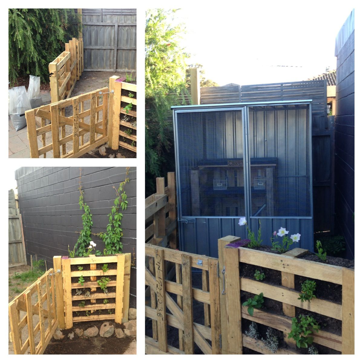 I love to use pallets free recycled materials with no straight