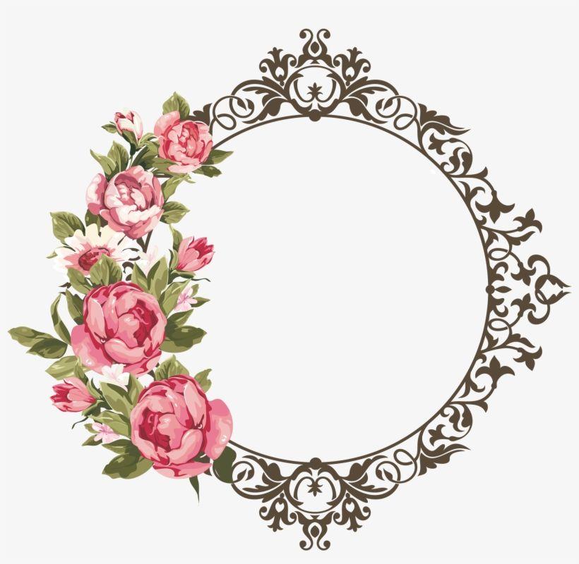 Download Arte Digital Flower Frame Png Rose Frame Clip Art Moldura Arabesco Floral Png Png Image For F Flower Frame Flower Frame Png Floral Border Design