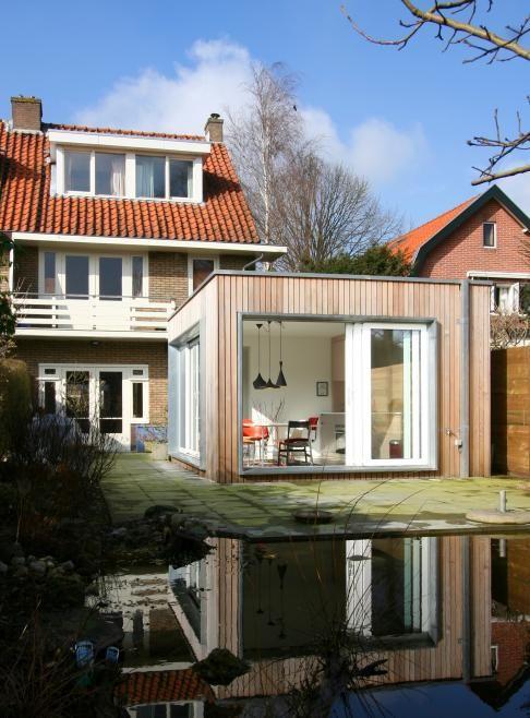 Houten uitbouw  aanbouw ideeen  Tuin slaapkamer Huis en