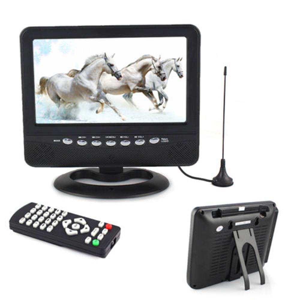 7 inch Portable LCD Analog TV FM MP3 USB Slot Car Reader Digital Mobile TV FE #UnbrandedGeneric