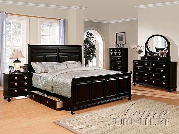 Amherst Espresso 5 Pc Bedroom Set W/ King Bed (1776S1) By Acme ...