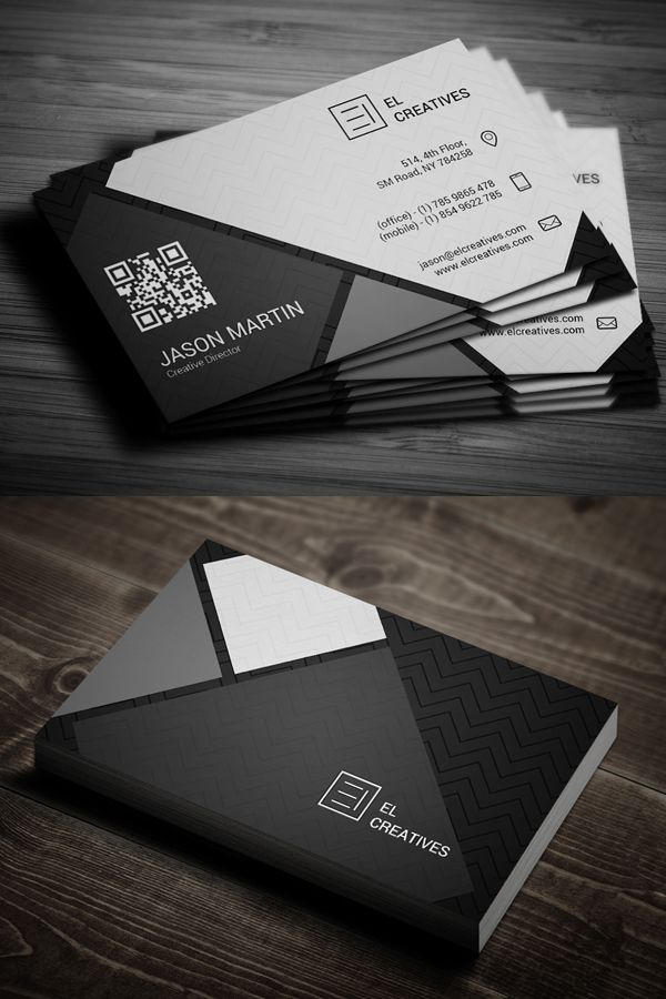 Dark Creative Business Card #businesscards #psdtemplate #printready ...