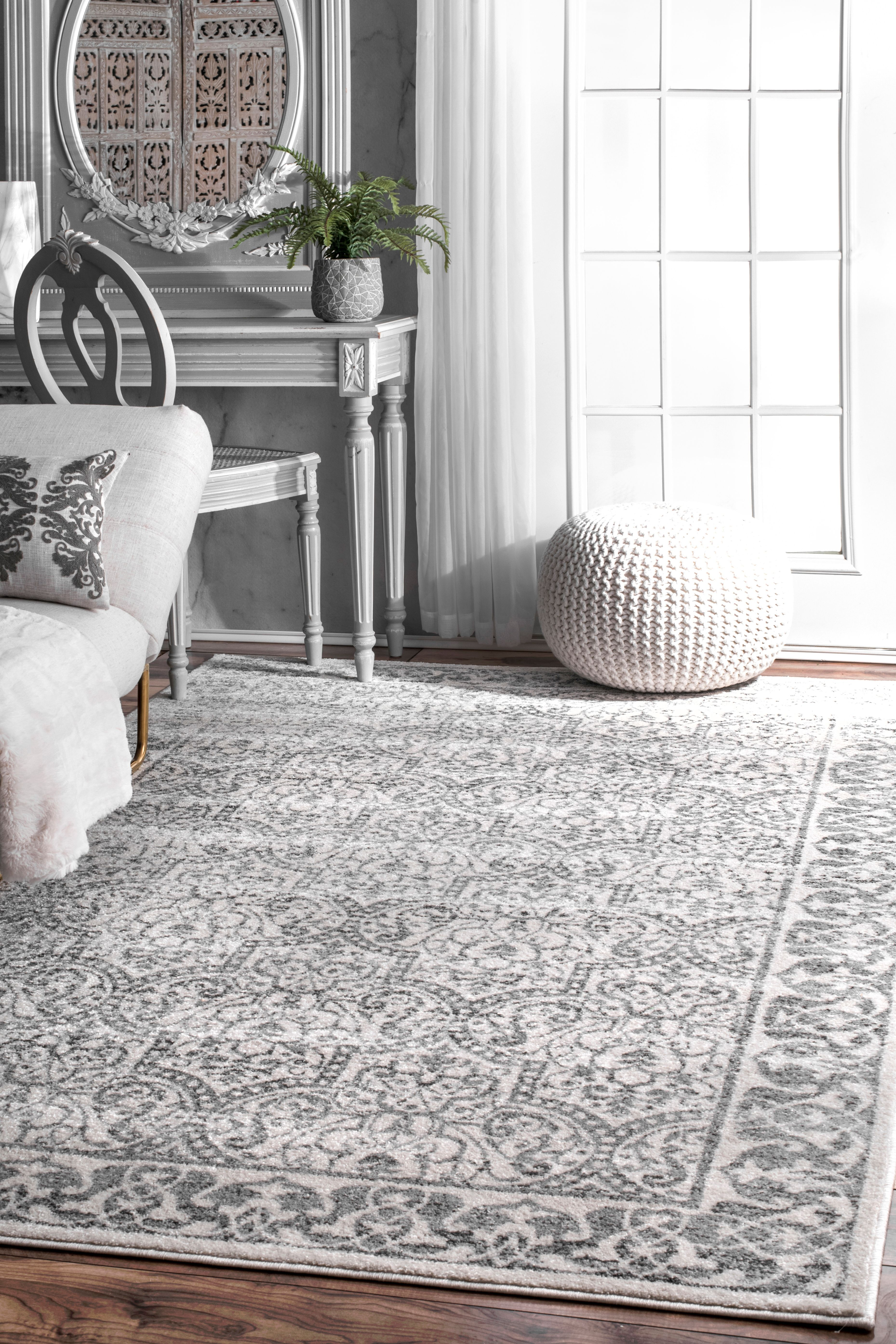 Rugs usa tallahassee floral moroccan trellis rug