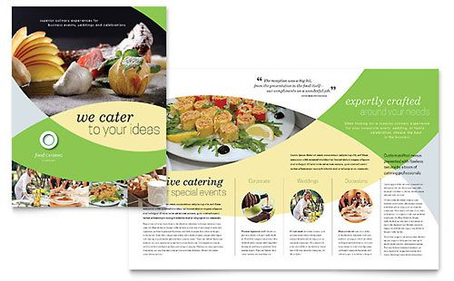 food catering brochure template design catering concept