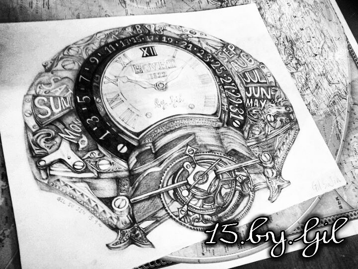 Gilbovet drawing pencil pencilsketch sketch doodle art artwork watch tourbillonluxury hublot iwc rolex patekphilippe alangesohne
