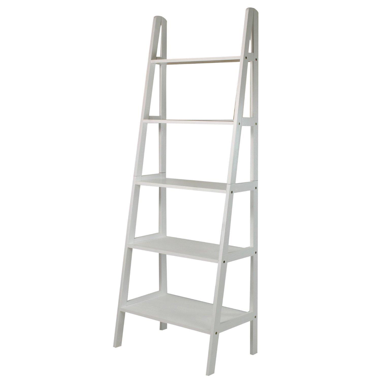 Casual home shelf corner ladder bookcaseespresso