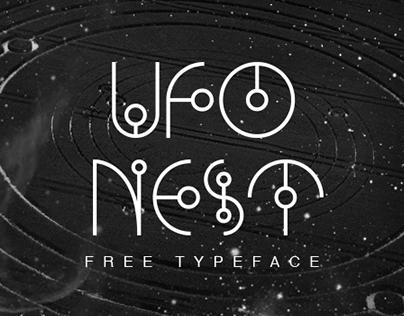 """다음 @Behance 프로젝트 확인: """"UFO NEST - Free Font"""" https://www.behance.net/gallery/23985831/UFO-NEST-Free-Font"""