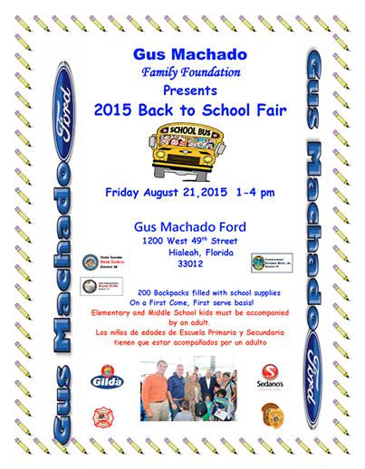 Gus Machado Ford Kendall >> Reminder Gus Machado Family Foundation Presents 2015 Back