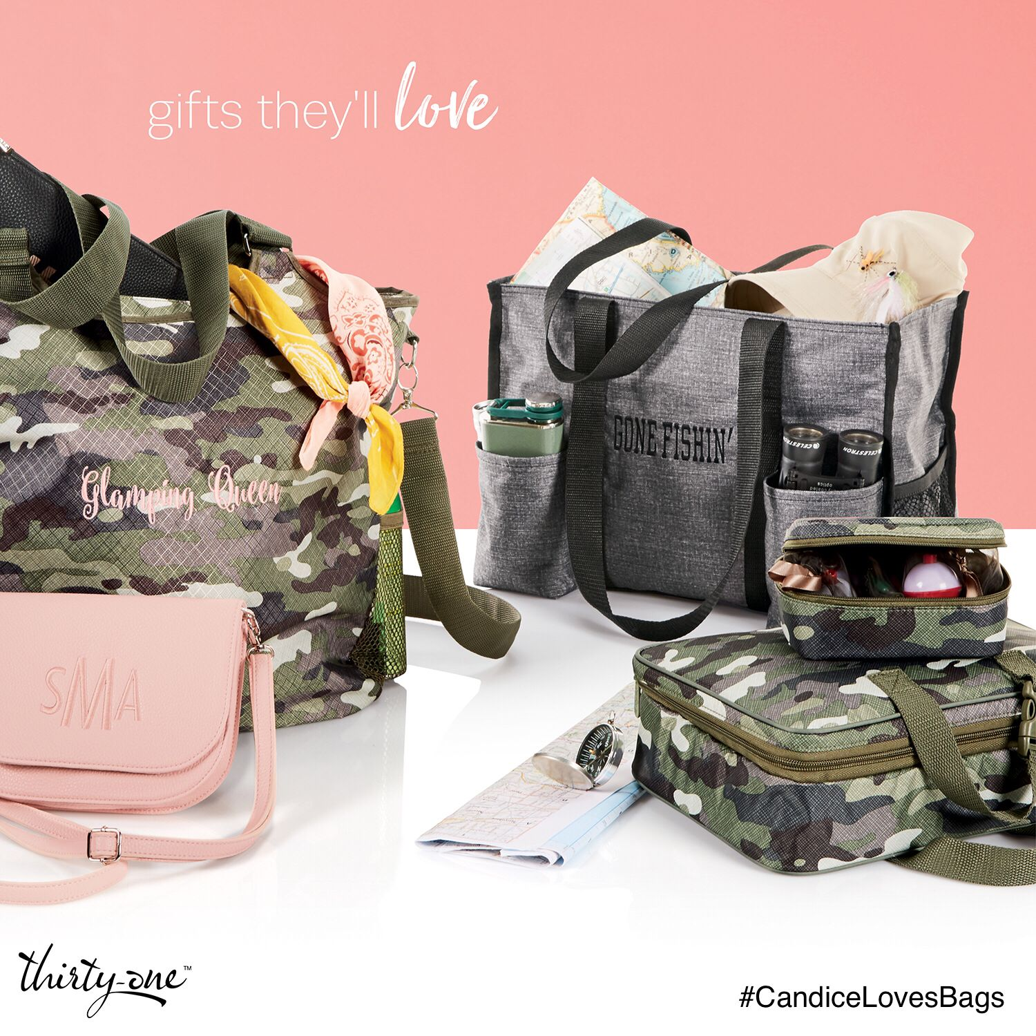 Thirty One Brought Back Camo And It Goes Perfectly With Rose Blush