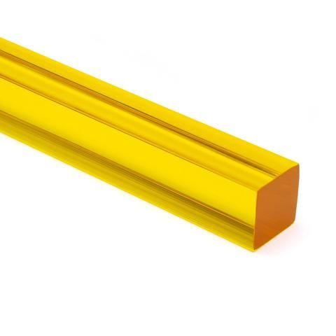 Yellow Transparent Acrylic Square Rod Acrylic Rod Fabric Projects Acrylic