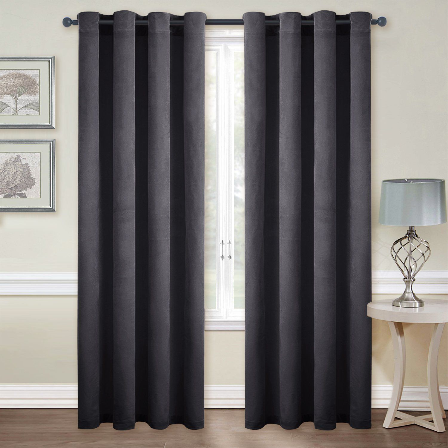 Amazon.com: Thermal Insulated Velvet Blackout Curtains