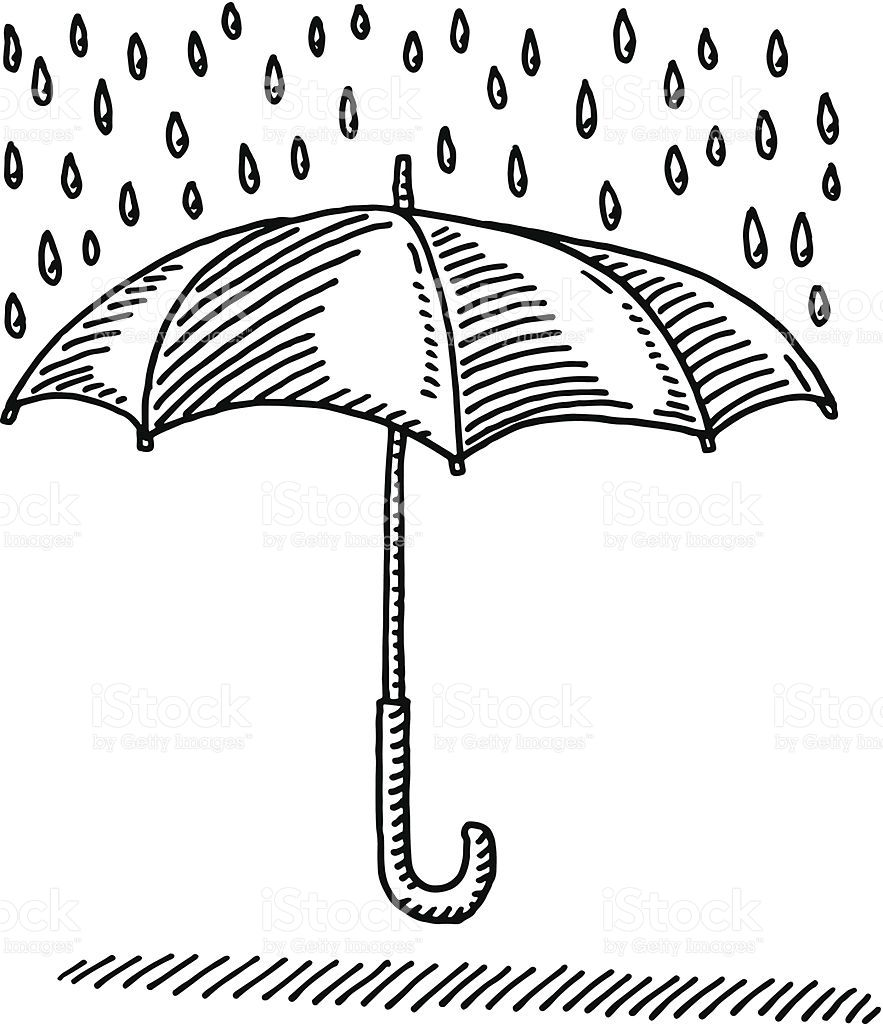 38+ Umbrella rain clipart black and white information