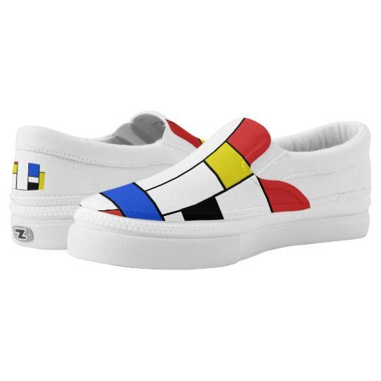 Photo of Mondrian Lines Zipz Slip On Shoes | Zazzle.com
