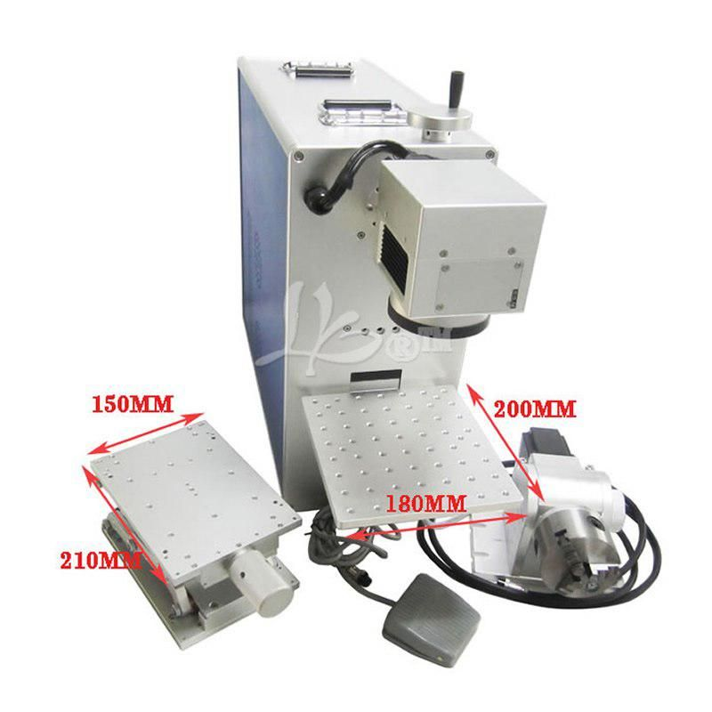 20w Optical Fiber Laser Engraving Machine Cnc Cutter With Rotary Axis For 3d Metal Marking Laser Engraving Machine Laser Engraving Fiber Optic