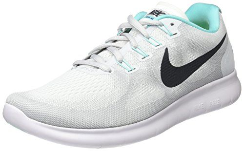 new style 3ff90 a7922 Nike Free RN 2017 White Anthracite Pure Platinum Women s Running Shoes