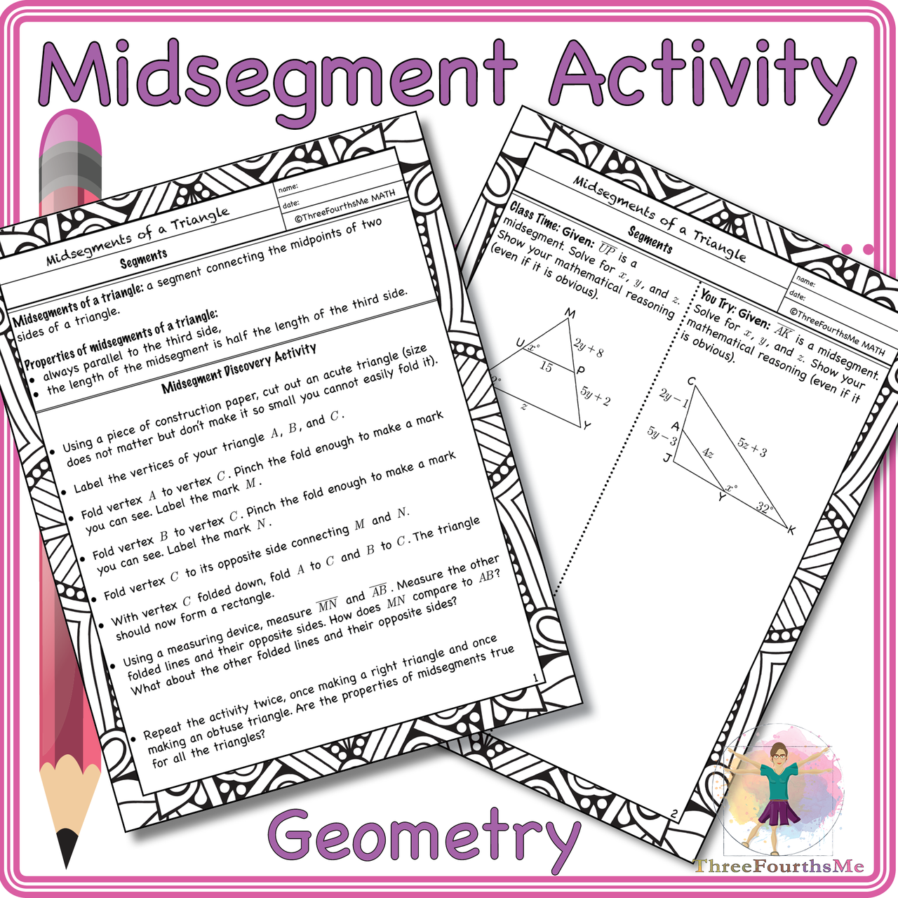 Midsegments Of A Triangle Activity