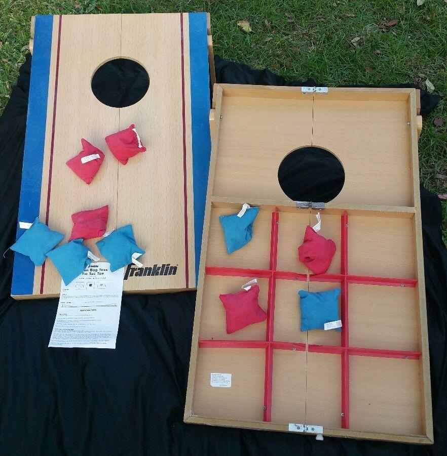 Outstanding Franklin Bean Bag Toss Tic Tac Toe Wood Cornhole Yard Party Machost Co Dining Chair Design Ideas Machostcouk