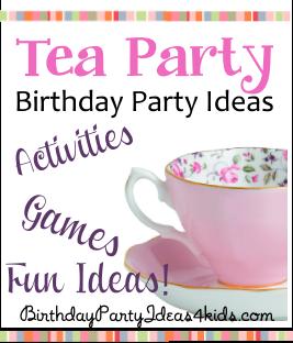 tea party theme birthday party ideas fun ideas for party games