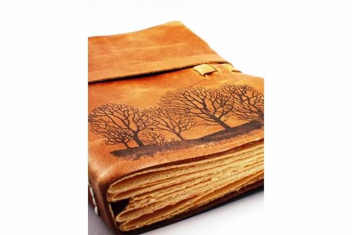 bookmaking idea....tree shilloutes/antique!