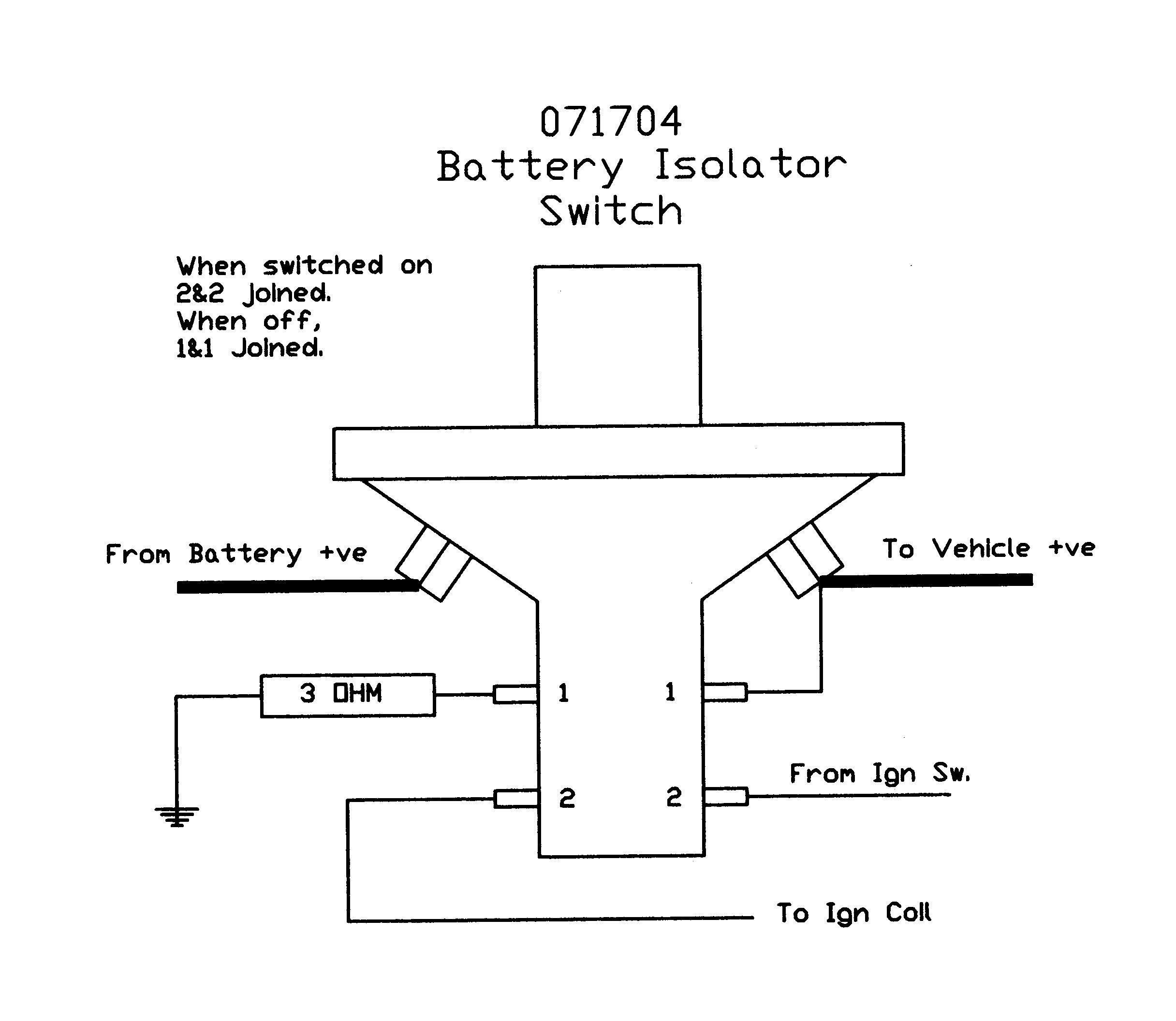 Unique Wiring Diagram for Emergency Key Switch diagram
