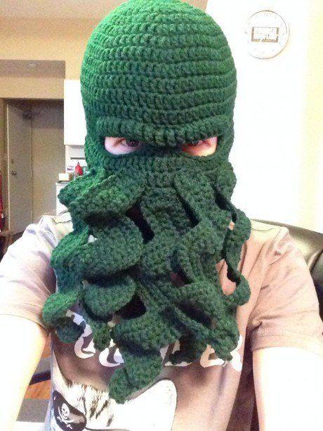 Crochet Cthulhu Inspired Octopus Ski Mask Masking Crochet And Crafty