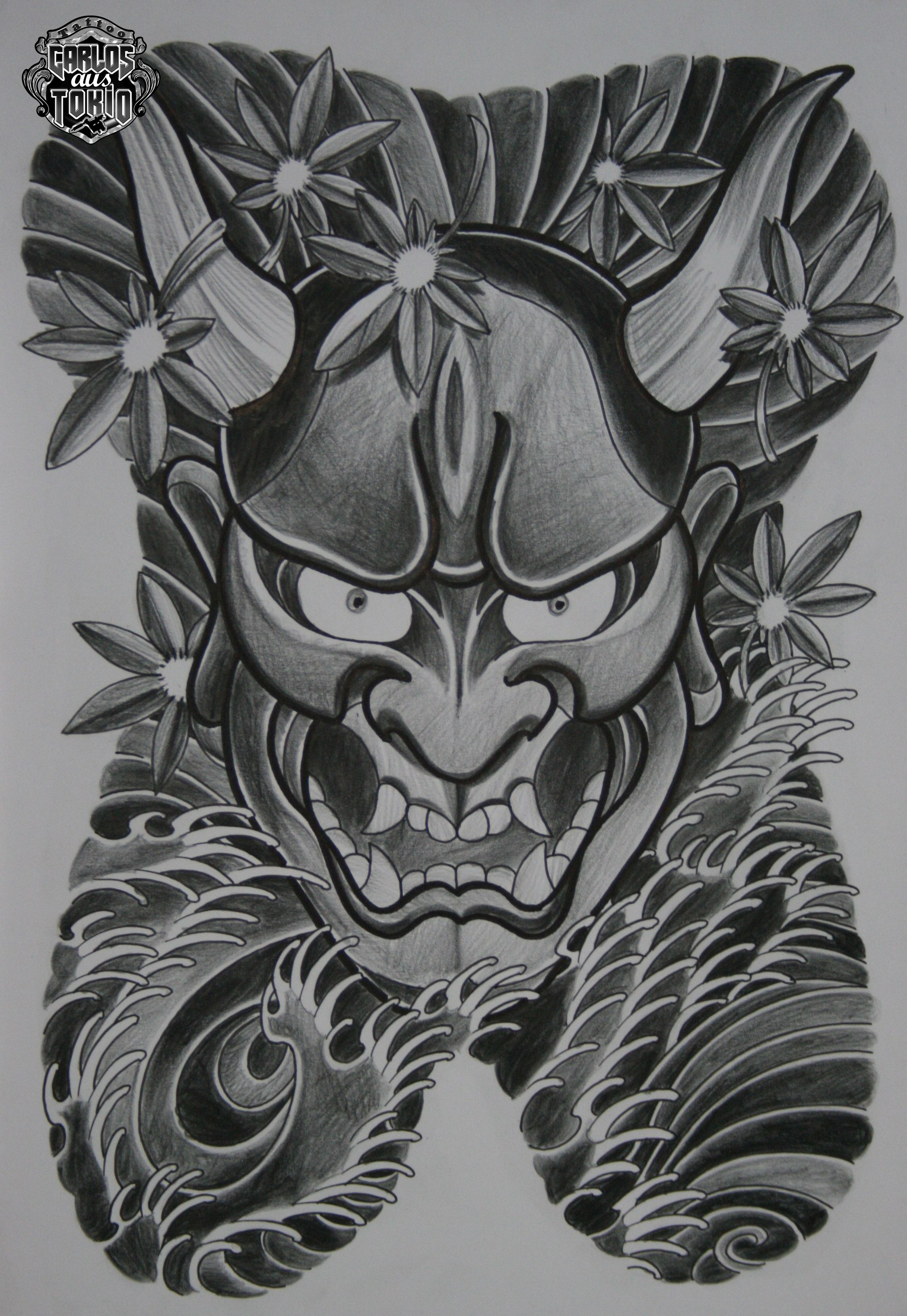 Hannya mask tattoo designs hannya 4 ain t nuthin but a for Japanese tattoo art