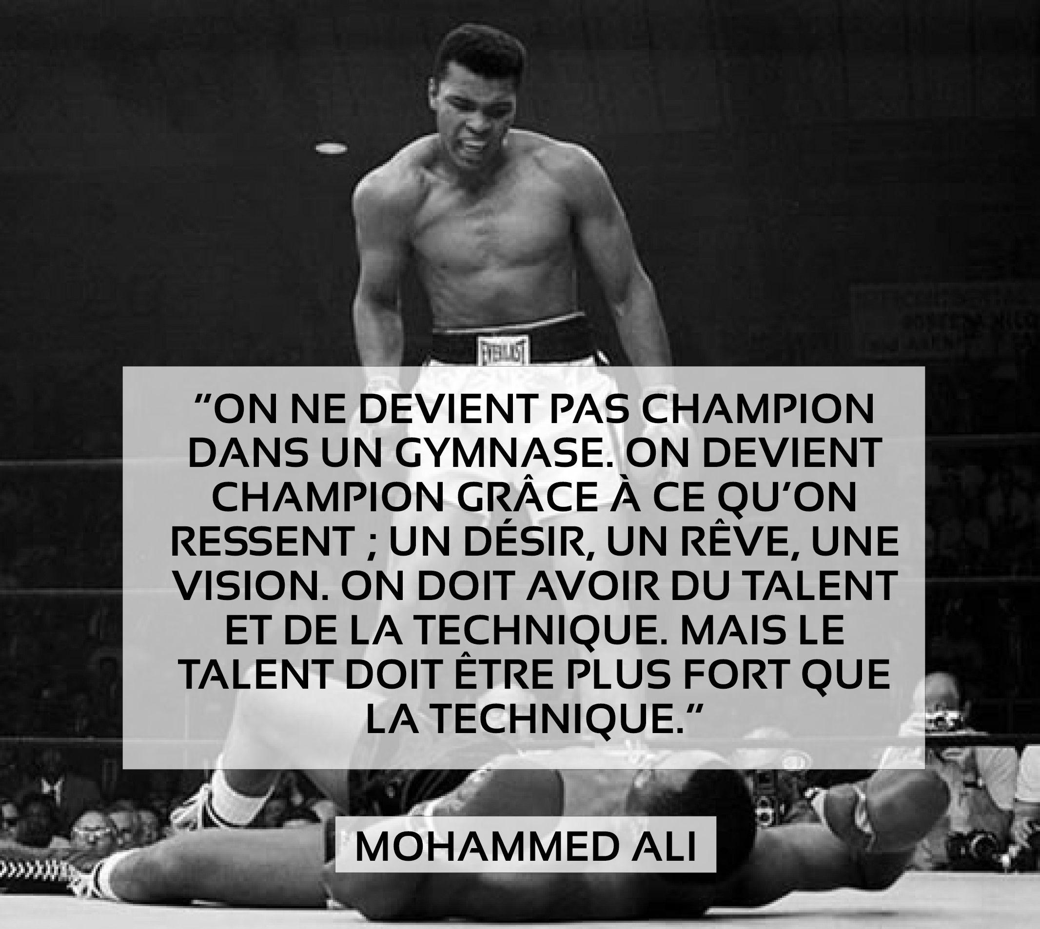 Magnifique Citation De Mohammed Ali Sur L Esprit Sportif On Ne